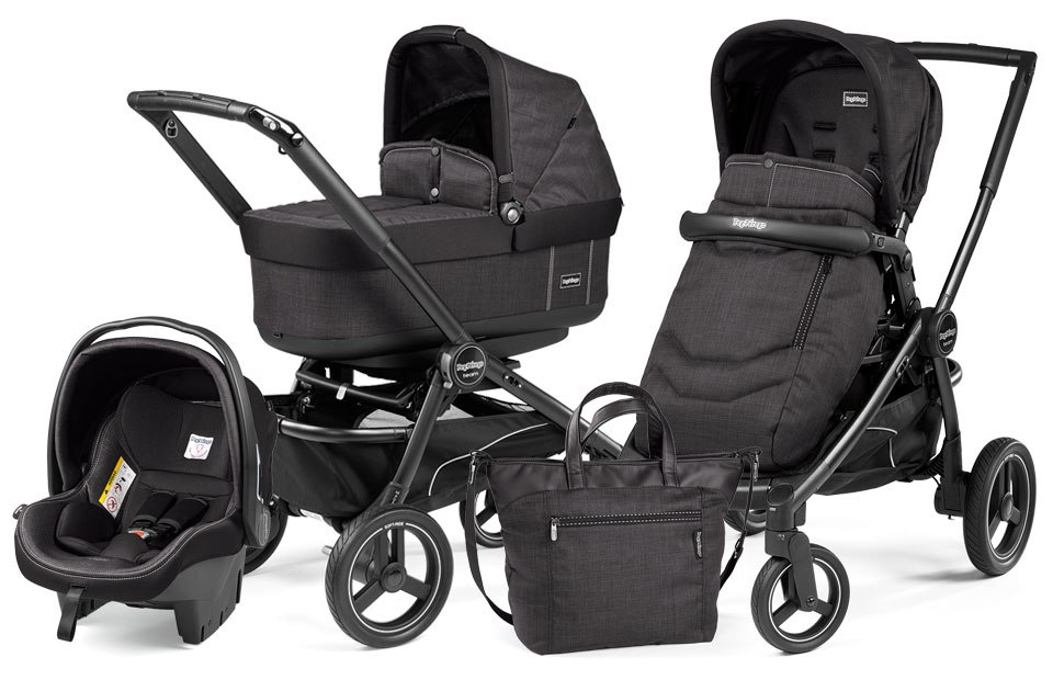 TEAM POP-UP COMPLETO MODULAR Peg Perego (stelaż + 2x siedz. spacerowe + gondola Navetta Pop Up + fotelik SL + torba + adapter)