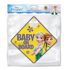 TABLICZKA BABY ON BOARD FROZEN