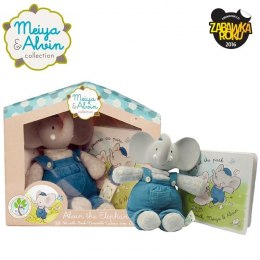 Meiya & Alvin - Alvin Elephant Mini Deluxe Teether Gift Set with Book