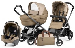 BOOK 51 ELITE SPORTIVO MODULAR CLASS Peg Perego (Stelaż Book 51 + Set Elite Sportivo + Siedzisko Pop-Up Sportivo) - class beige