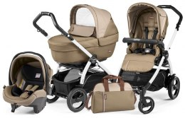 BOOK 51 S ELITE SPORTIVO MODULAR CLASS Peg Perego (Stelaż Book 51 S+Set Elite Sportivo+Siedzisko Pop-Up Sportivo) - class beige