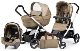 BOOK S ELITE SPORTIVO MODULAR CLASS Peg Perego (Stelaż Book S + Set Elite Sportivo + Siedzisko Pop-Up Sportivo) - class beige