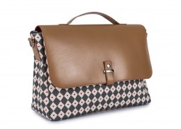 Torba Pink Lining Satchel Diamonds & Hearts