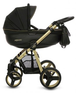 MOMMY Gold Magic 2w1 BabyActive wózek głęboko-spacerowy - 14 Gold złoty stelaż
