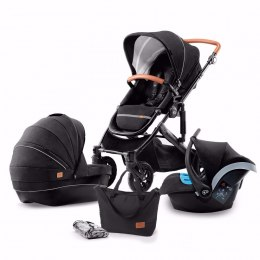 Kinderkraft Wózek Głeboko Spacerowy PRIME 3w1 do 22 kg- Black