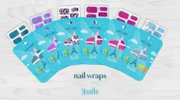 Naklejany lakier Nail Wraps Snails - Red Carpet