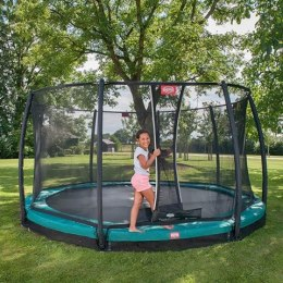 BERG Trampolina Champion InGround 380 cm Twinspring Gold + Siatka Comfort + BIG Ogrodowa Fontanna Gratis