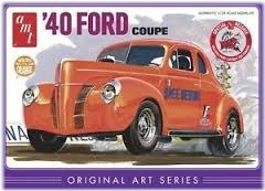 Model Plastikowy Do Sklejania AMT (USA) - 1940 Ford Coupe Original Art