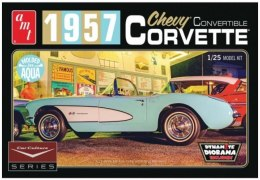 Model plastikowy - Samochód Car Culture 1957 Corvette Convertible (Aqua) - AMT