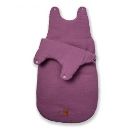 Hi Little One - śpiworek NEWBORN LAVENDER muslin cotton TOG 3,5 wiek 0 m+