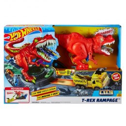 Hot Wheels City Atak T-Rexa Zestaw do zabawy