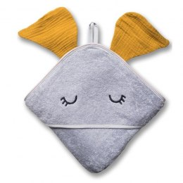Hi Little One - Ręcznik z kapturem 100 x 100 ELEPHANT hooded bath towel Mustard