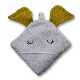 Hi Little One - Ręcznik z kapturem 100 x 100 ELEPHANT hooded bath towel Olive