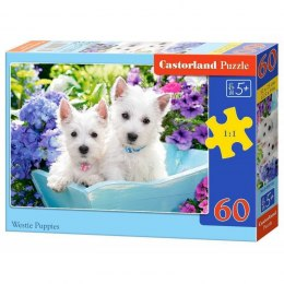 PUZZLE 60EL. WESTIE PUPPIES