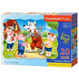 PUZZLE 20EL.MAXI THREE PIGS