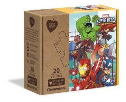 Clementoni Puzzle 2x20el Play For Future Super Hero Adventures 24775