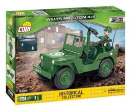 COBI 2399 Historical Collection WWII Jeep Willys MB 1/4 Ton 4x4 91 klocków