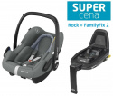 ROCK Maxi-Cosi I-Size do 75cm 0-13kg + Baza FamilyFix 2 i-Size - Essential Grey