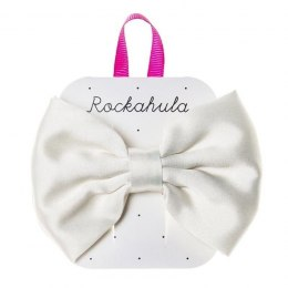 Rockahula Kids - spinka do włosów Satin lux Double bow Ivory