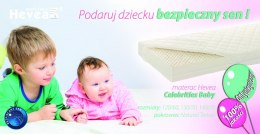 Materac lateksowy Celebrities Baby 140/70 Hevea - Tencel Silky Feeling
