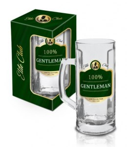 Elite Club - kufel na piwo 500 ml - 100% Gentleman